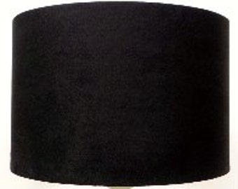 Black Faux Suede  Lampshade, Table Lamp, Pendant, Ceiling Shade