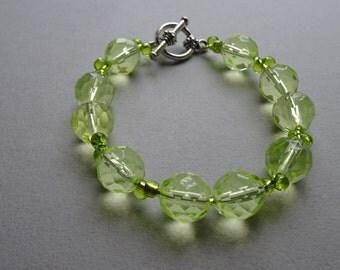 Citrus Pop- Lime Green Beaded Bracelet & Earring Set