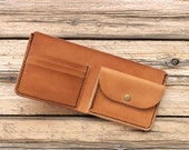 Mens leather wallet with coin pocket womens leather wallet with coin pocket leather purse mens leather wallet travel gift for him Free gift