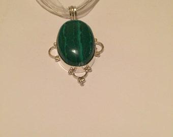 Green unakite pendant