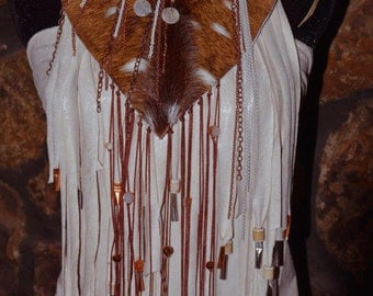 """Couture Necklace """"The Deer Huntress"""""""