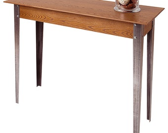 Metal & Wood Shaker Console Table