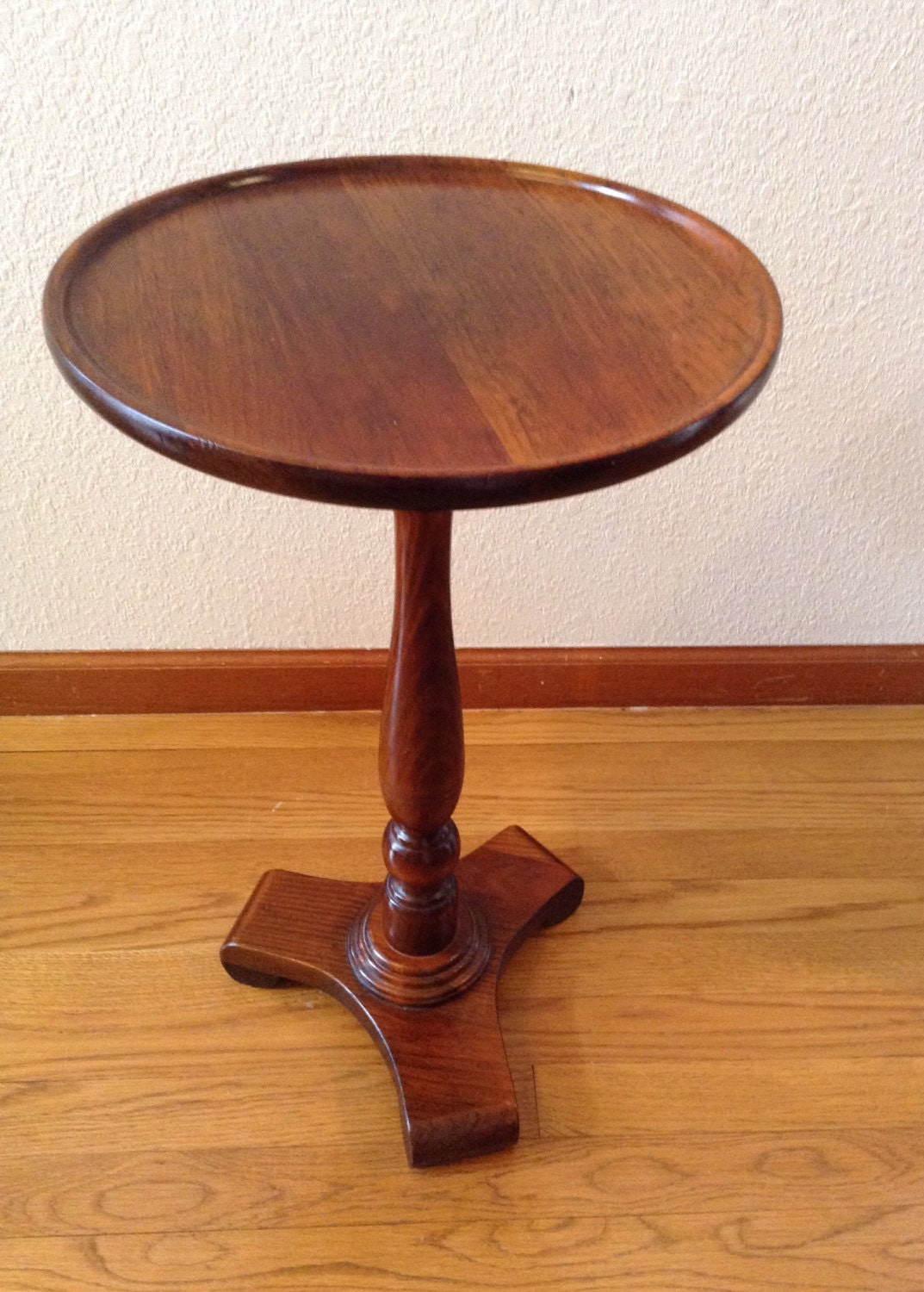 Vintage Ethan Allen Wood Wine Table Side Table End Table