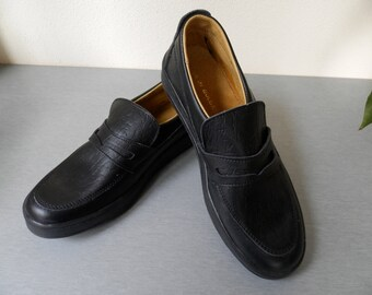 Vintage Men's Black Leather Shoes / Bulgarian Men's Leather Shoes 70s / Comfortable Shoes / Business Shoes / Casual Shoes For Men.