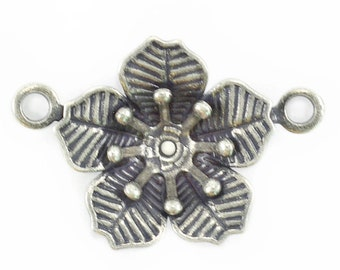 5 Piece 29ss Flower Pendant base with Two side loops for jewelry making