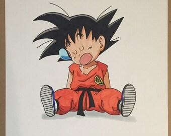 Sleepy Kid Goku Original copy