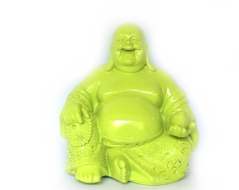 FOR JENNIFER ONLY!!! Laughing Buddha Statue - Lime Green/ or Pick Color - Bohemian Home Decor - Buddha Altar Statue - Fat Buddha Figurine
