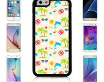 Dolphin Summer Design For Apple iPhone 6/6S, 6 Plus, 6S Plus, Samsung Galaxy S6 S6 edge, S6 edge plus, Note 4, Note 5, S7 S7 edge Case Cover