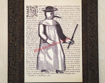 Plague doctor, pestilence, pest, black death, medieval, occult, dark, gothic, magic, canvas print, canvas poster, medieval poster, #0001