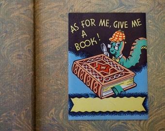 Vintage Bookworm Bookplate