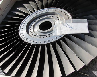 Make your OWN table or wall art. Pratt & Whitney JT8D Stage 2 Compressor Fan from a Boeing 737 Jet Engine.