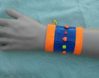 Single jewelled rave wristband