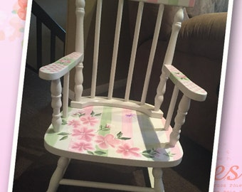 Child's Colonial Spindle Rocking Chair