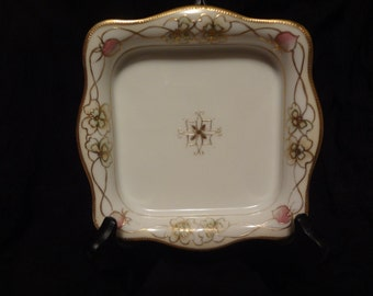 Morimura Nippon Hand Painted Porcelain Dish, Early 1900's, Antique