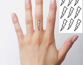 Lightning Bolts - Temporary Tattoos // Body Art // Cool // Tumblr Style // Summer // Party