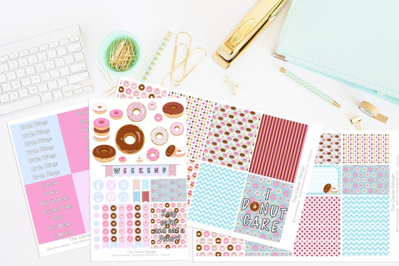 Donuts planner sticker kit