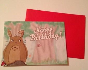 Cute Totoro Birthday Card *SALE*