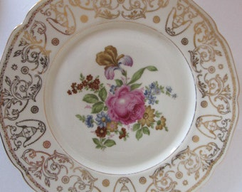 "Baronet F&B Bohemia 11"" Dinner Plate Made in Czechoslovakia (Pattern 2)"