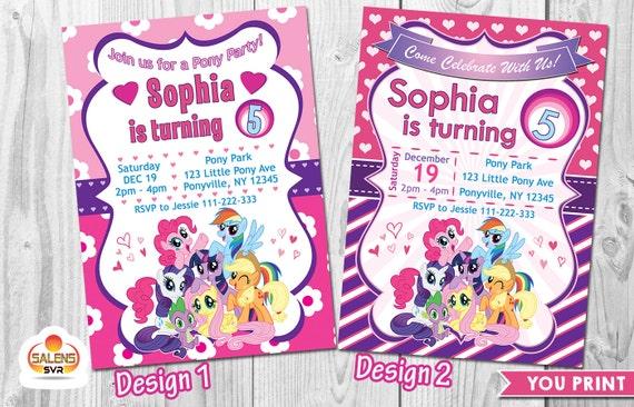 photo relating to My Little Pony Printable Invitations identified as My Minimal Pony Birthday Social gathering Invitation, My Minor Pony Printable - Oneself PRINT