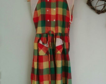 Beautiful 1950 sleeveless day dress - needs repair / for study -