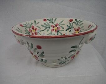 Vintage New Debco Ceramic Berry Bowl Strainer - Vintage, Antique, Usable
