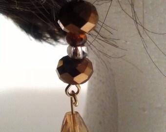 Champaign Crystal Royal Dangle Earrings