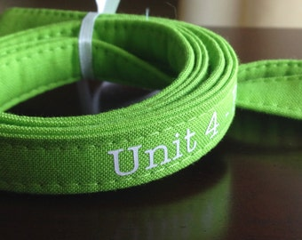 Custom Personalized Lanyard - Lime Green, Six Font Choices - Perfect Athlete, Coach, Teacher Gift