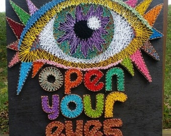 Open Your Eyes String Art