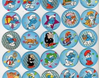 The Smurfs - Los Pitufos - LES SCHTROUMPFS Pogs Tazos Avimage- Complete set - Vintage Rare Taso Taps