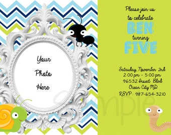 Bug, Insect Invitation, Printable File