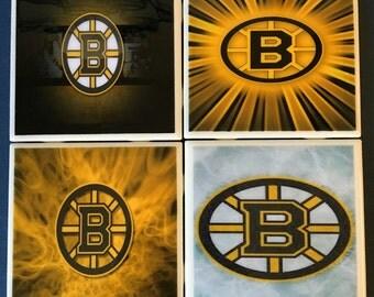 Boston Bruins coaster set