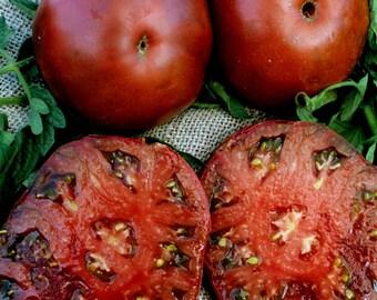 Heirloom Tomato- BLACK KRIM- 69 day dark red Indeterminate- 25 seeds