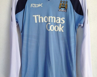 Manchester city jersey Onouha 16 reebok Thomas Cook 06-07 S
