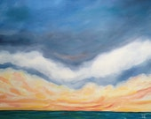 Seascape Oil Painting, Original, 18x24 inches