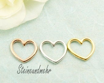 3 set heart gold-plated silver-plated kind. 3245