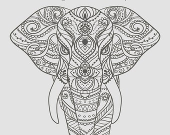Cool elephant design coloring sheets coloring pages for Elephant mandala coloring pages