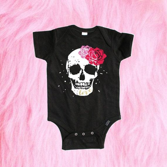 Sugar Skull Baby Shirt Girl Clothing