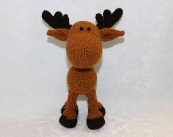 Knitted toy / Knitted deer / Knitted toy reindeer / Christmas toy deer / New Year toy deer