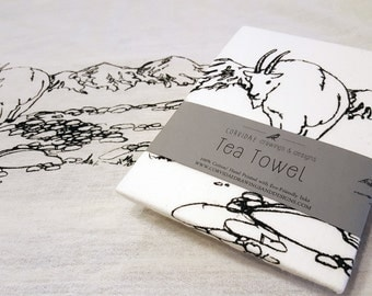 Mountain Goat Tea Towel - GNP Kitchen Towel