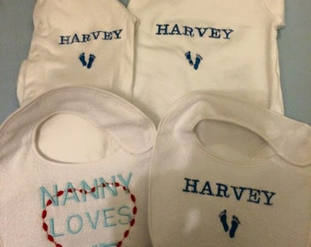 personalised 3 piece baby set