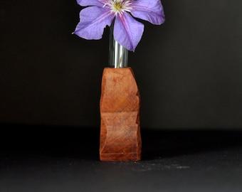 Wooden bud vase