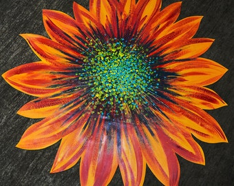 Canyon Road - sunflower - hand painted - home decor - kitchen - table - tablecloth - home accent - runner - placemat - centerpiece - flower