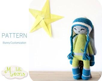 Crochet PATTERN - Bunny customization Little Meons - Amigurumi pattern, crochet amigurumi pattern, crochet toy, pdf pattern, crochet bunny
