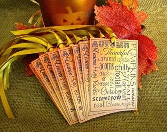 Autumn, Fall, Autumn Tags, Fall Tags, Tags, Subway Art, Fall Subway Art, Autumn Subway Art, Gift Tags, Autumn Labels