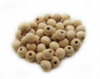 8mm Wooden Beads, Natural Wood Beads, Wood Beads, Round Wooden Beads, 20 pcs Wooden Beads, Jewelry Making, Craft Supplies