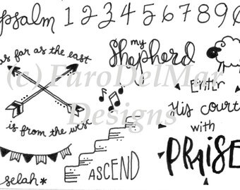 Psalms - Acrylic Stamps for Bible Journaling, Scrapbooking, Card Making