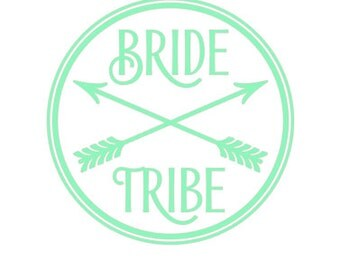 bride tribe sticker/decal, bridesmaid sticker, bride decal, bride shirts