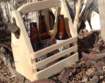 Valentine gifts for him, Beer Tote,recycled beer tote,beer
