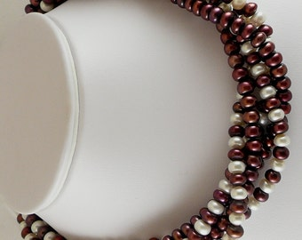 Freshwater Multi-Color 7mm to 8mm Pearl Necklace with Sterling Silver Clasp