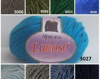 Alpacana Lanoso, classic yarn, wool yarn, knitting yarn, winter yarn, sweater yarn, hand knitting yarn, crochet yarn, hat yarn, scarf yarn